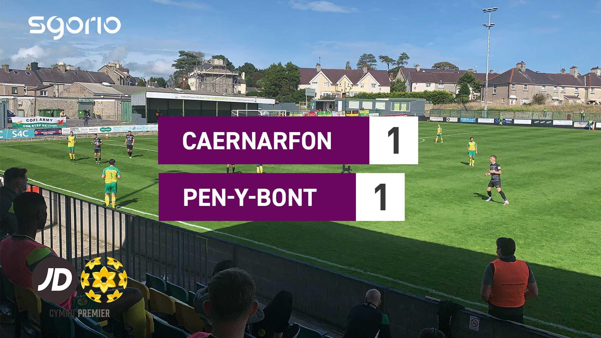 Caernarfon 1–1 Pen-y-bont