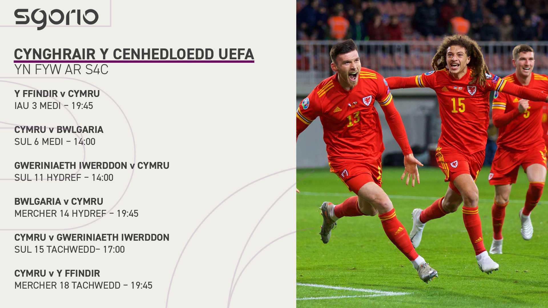 Cynghrair y Cenhedloedd Uefa yn fyw ar S4C
