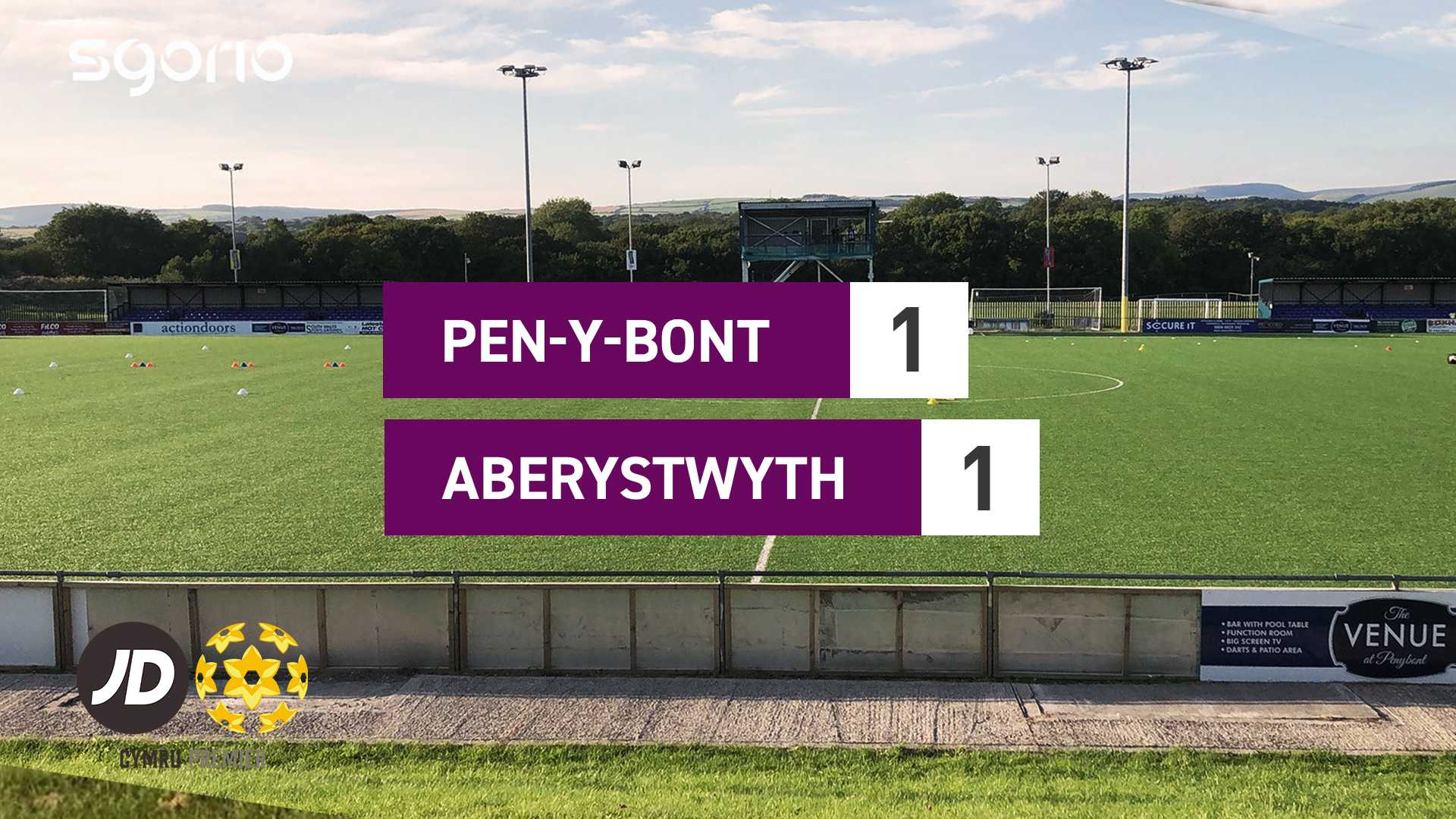 Pen-y-bont 1-1 Aberystwyth