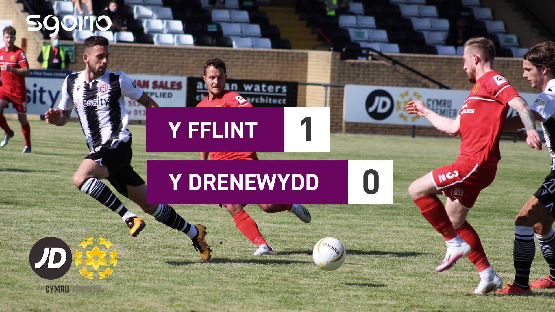 Y Fflint 1-0 Y Drenewydd