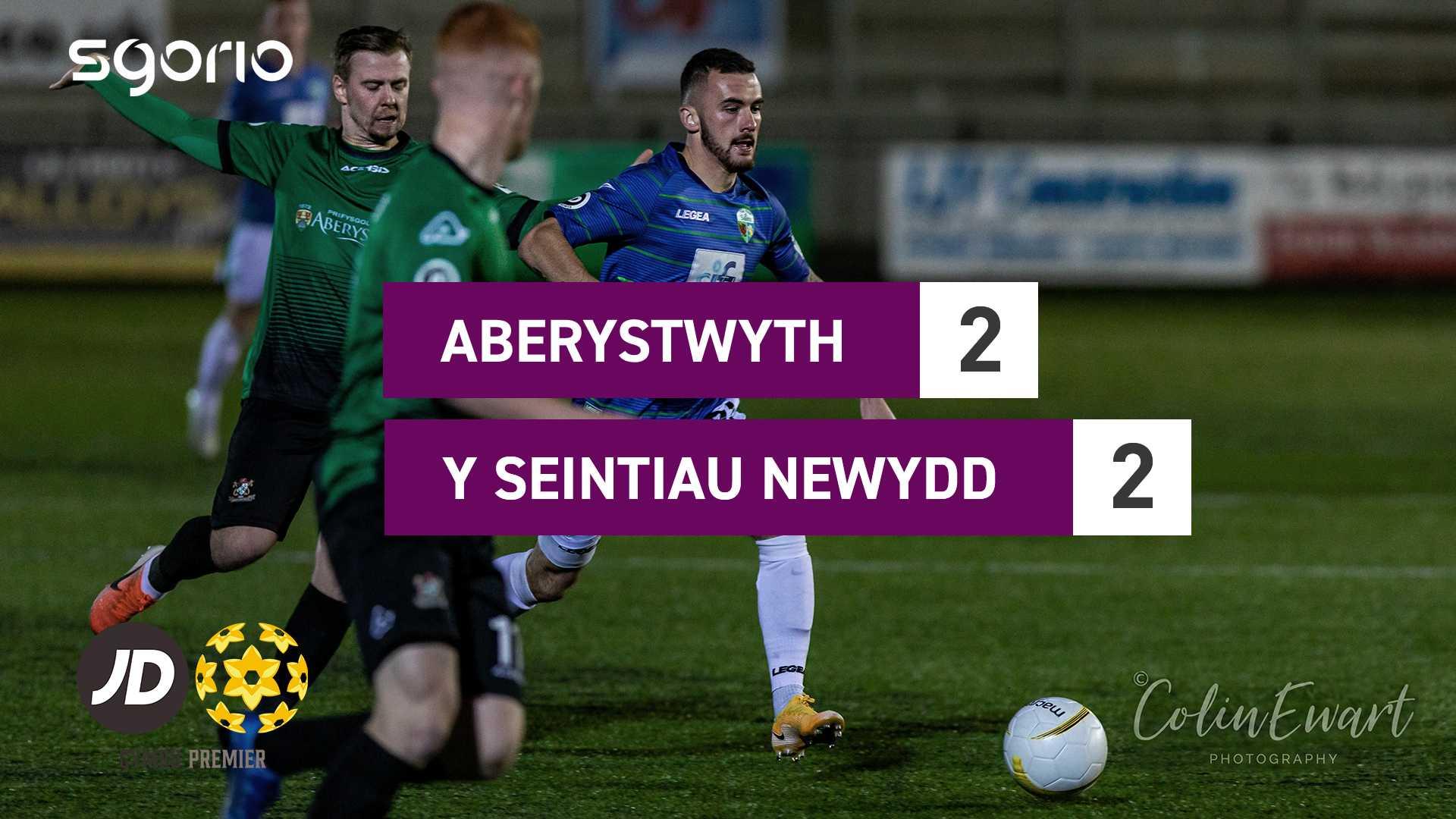 Aberystwyth 2-2 Y Seintiau Newydd
