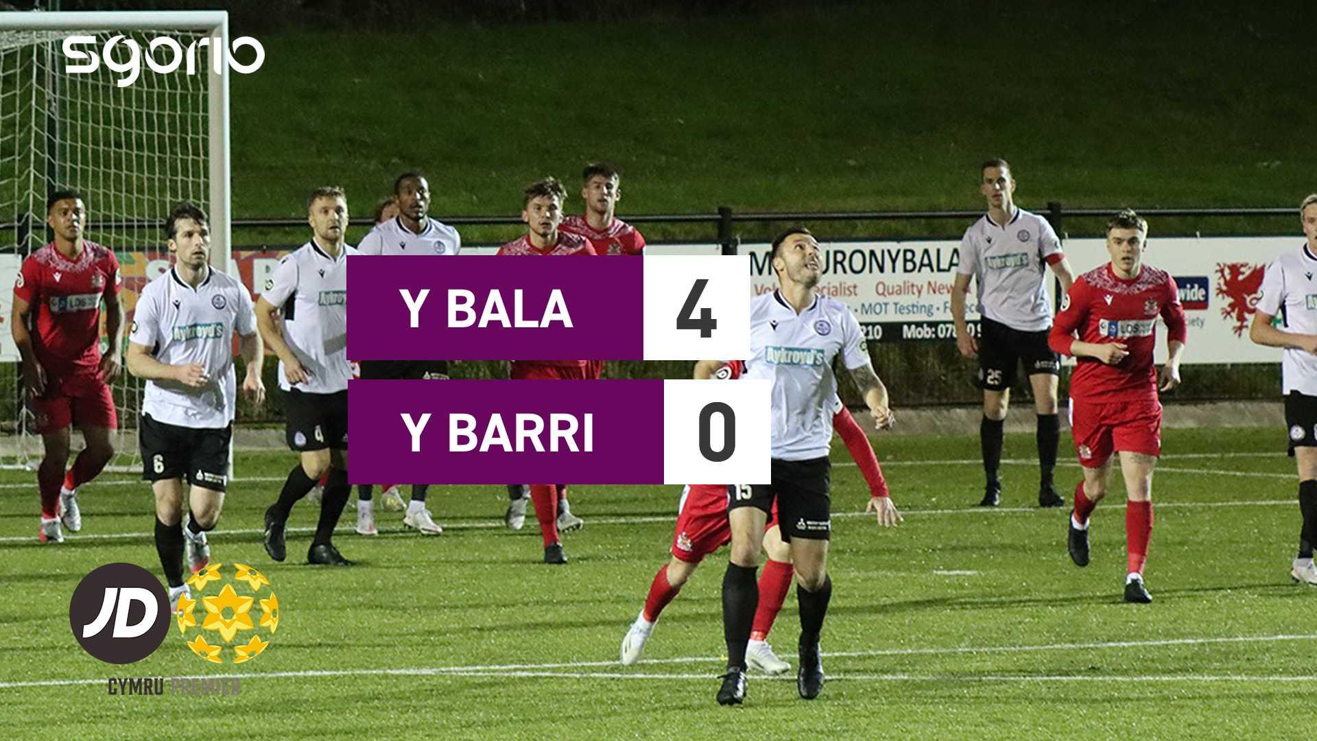 Y Bala 4-0 Y Barri