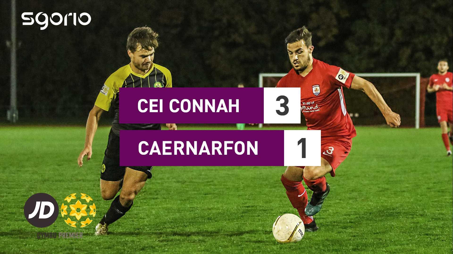 Cei Connah 3–1 Caernarfon