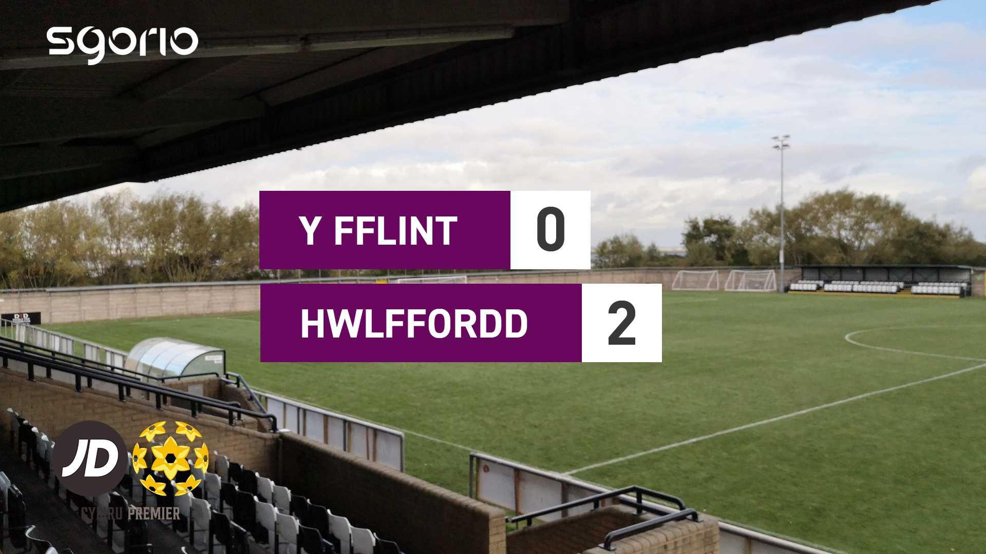 Y Fflint 0-2 Hwlffordd