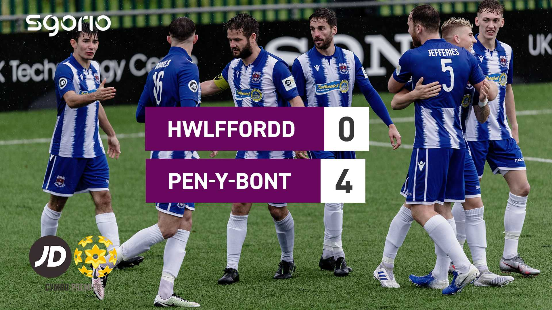 Hwlffordd 0–4 Pen-y-bont