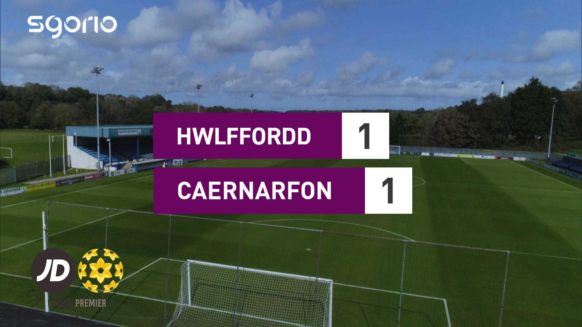 Hwlffordd 1-1 Caernarfon