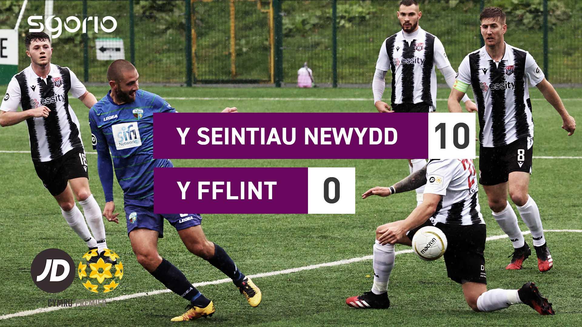 Y Seintiau Newydd 10–0 Y Fflint
