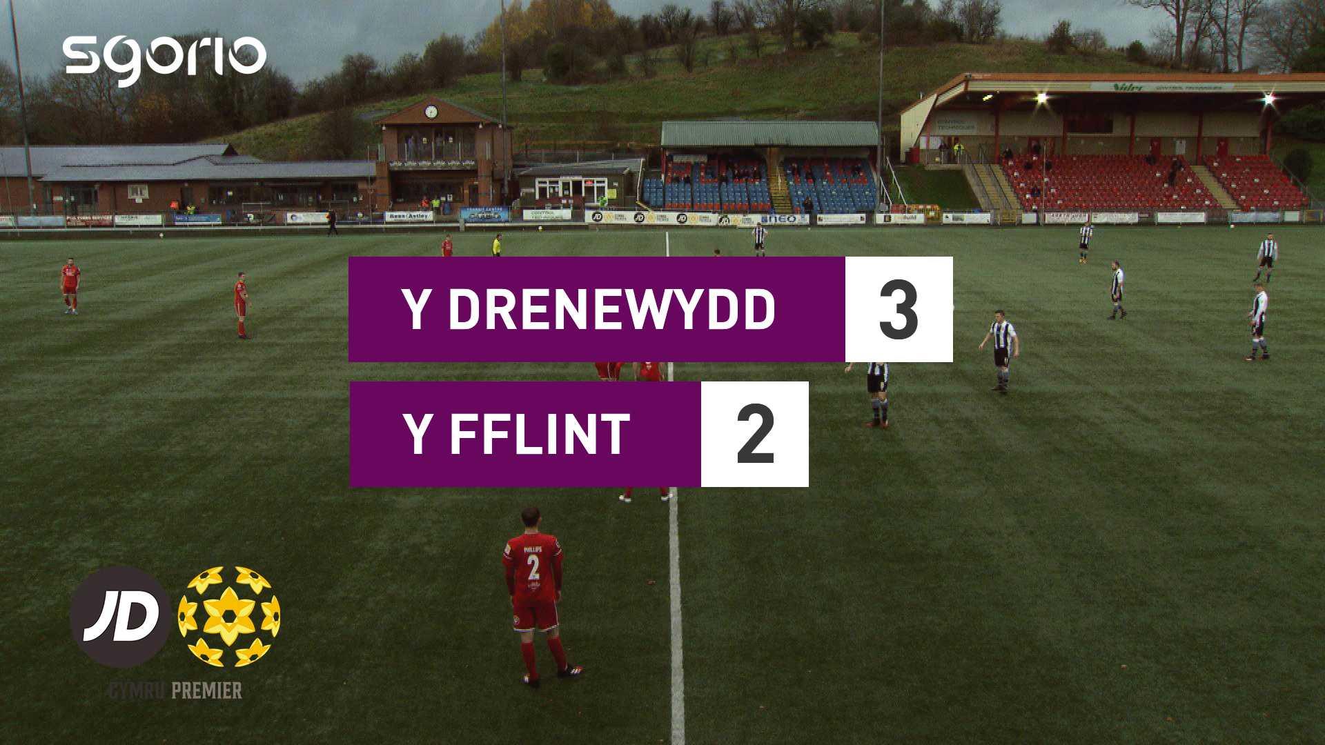Y Drenewydd 3-2 Y Fflint