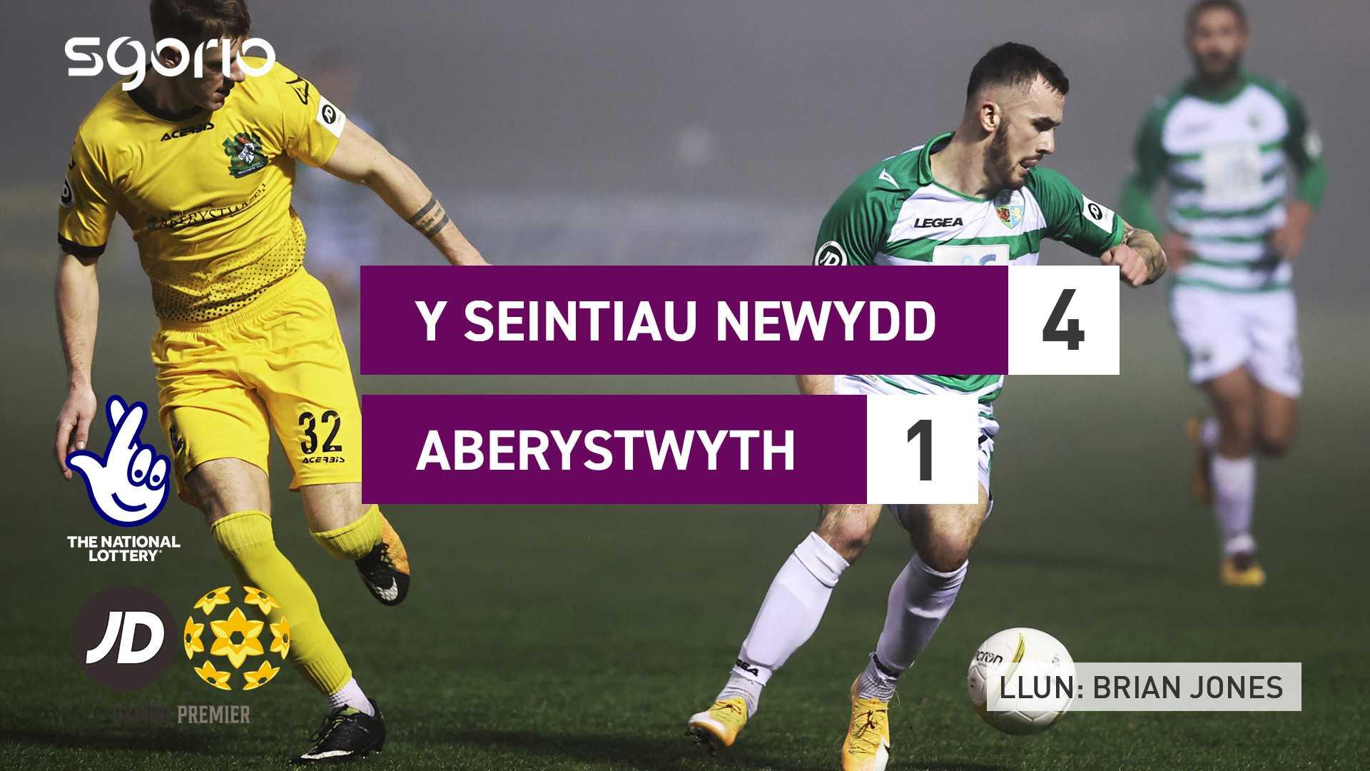 Y Seintiau Newydd 4-1 Aberystwyth