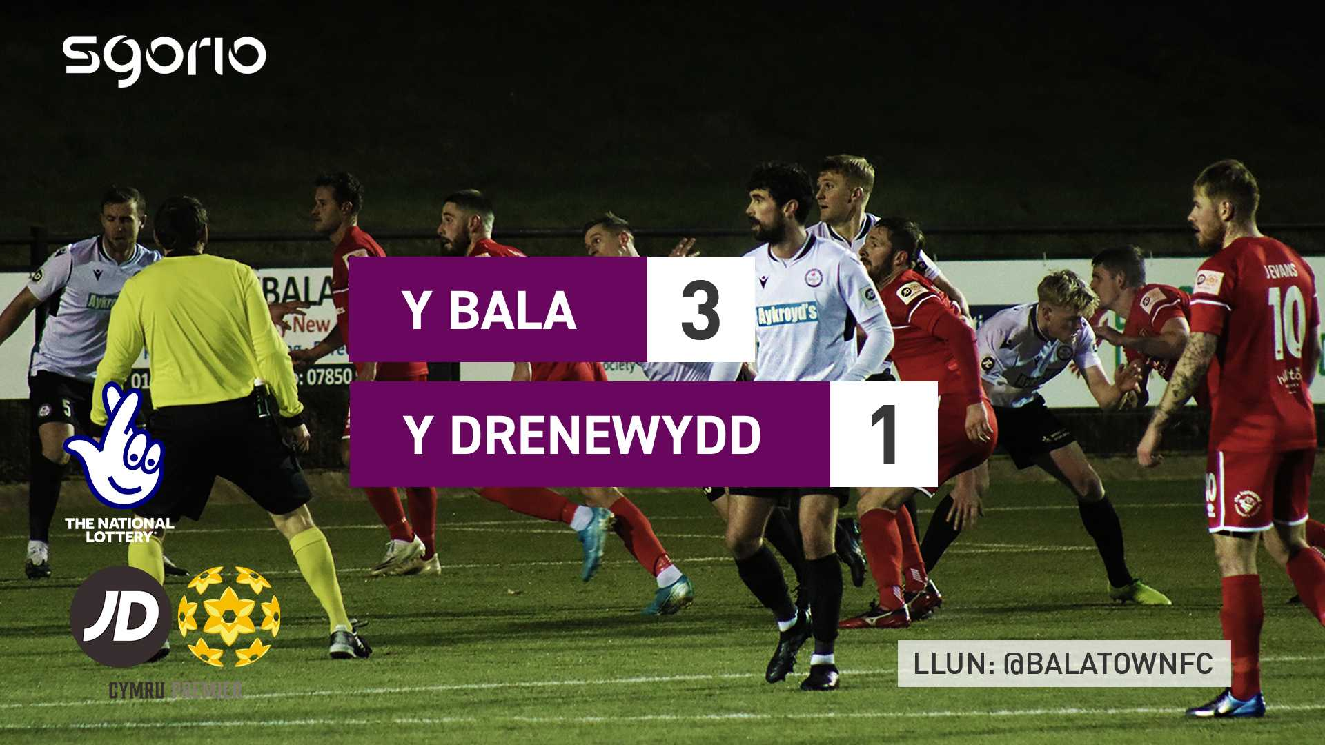 Y Bala 3-1 Y Drenewydd