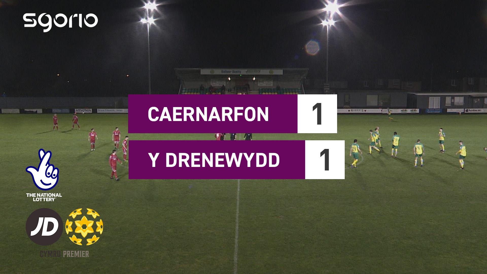 Caernarfon 1-1 Y Drenewydd