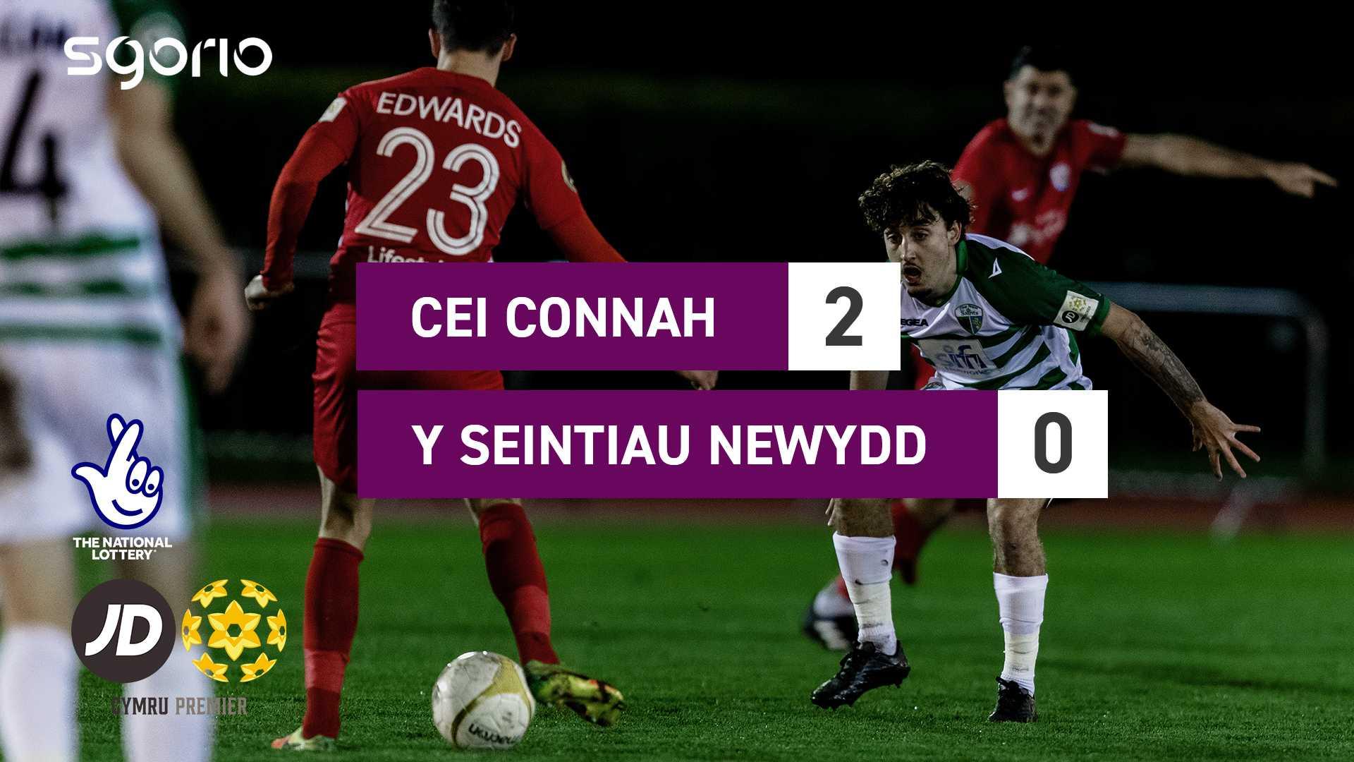 Cei Connah 2-0 Y Seintiau Newydd