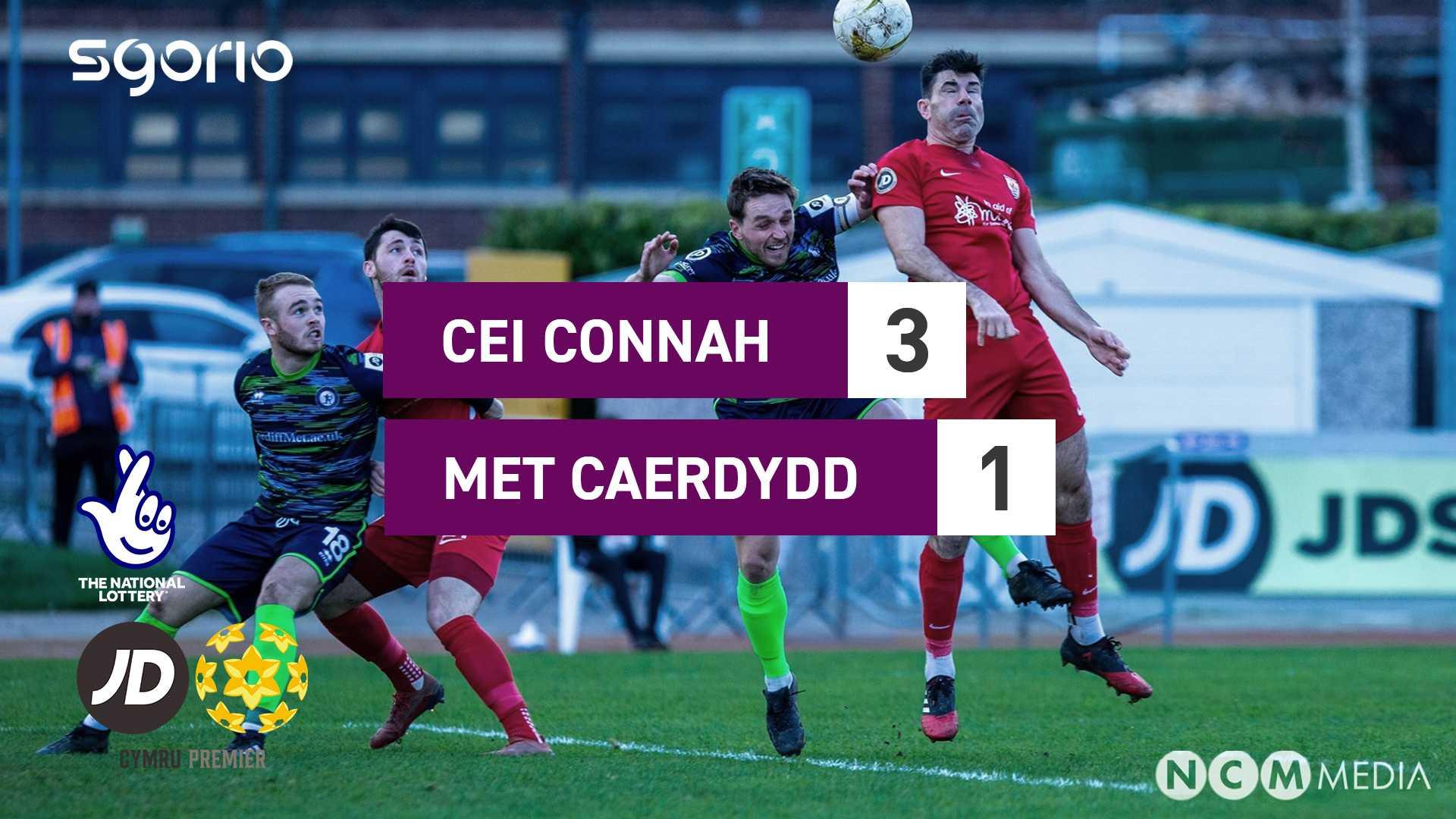 Cei Connah 3-1 Met Caerdydd