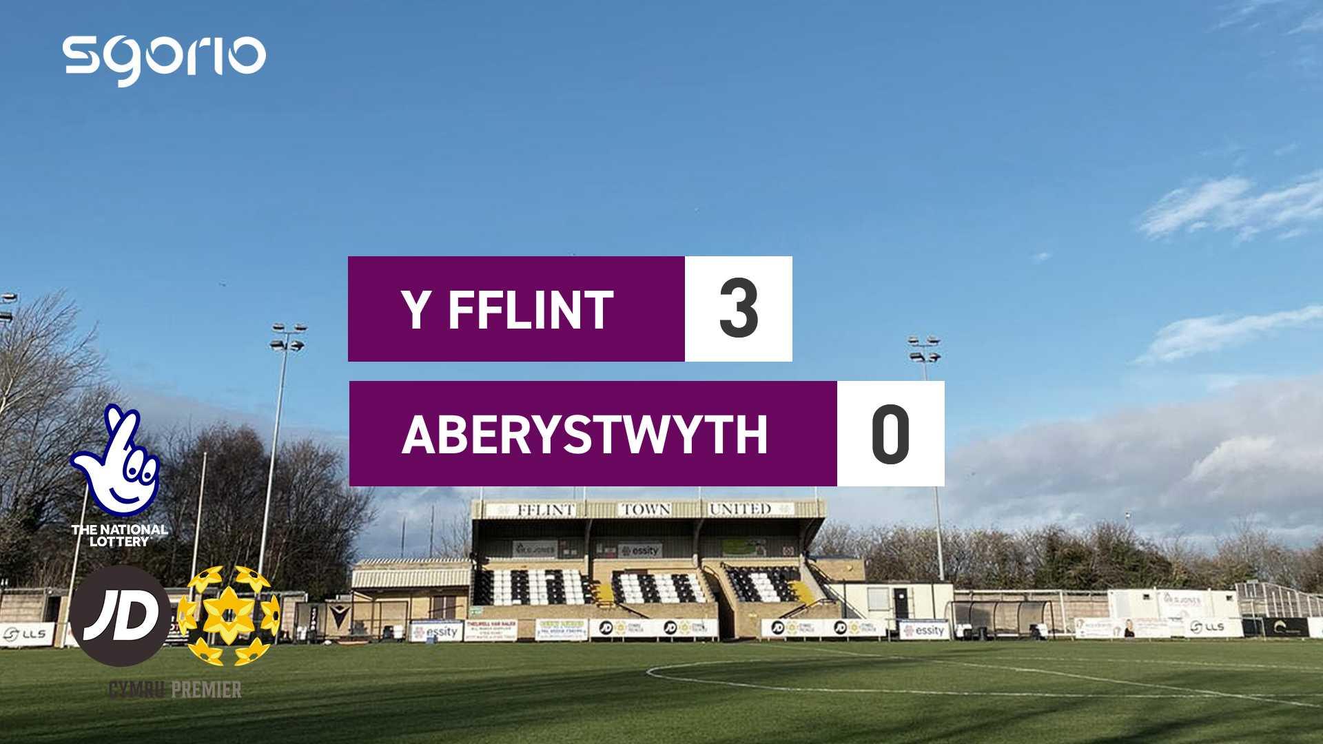 Y Fflint 3-0 Aberystwyth