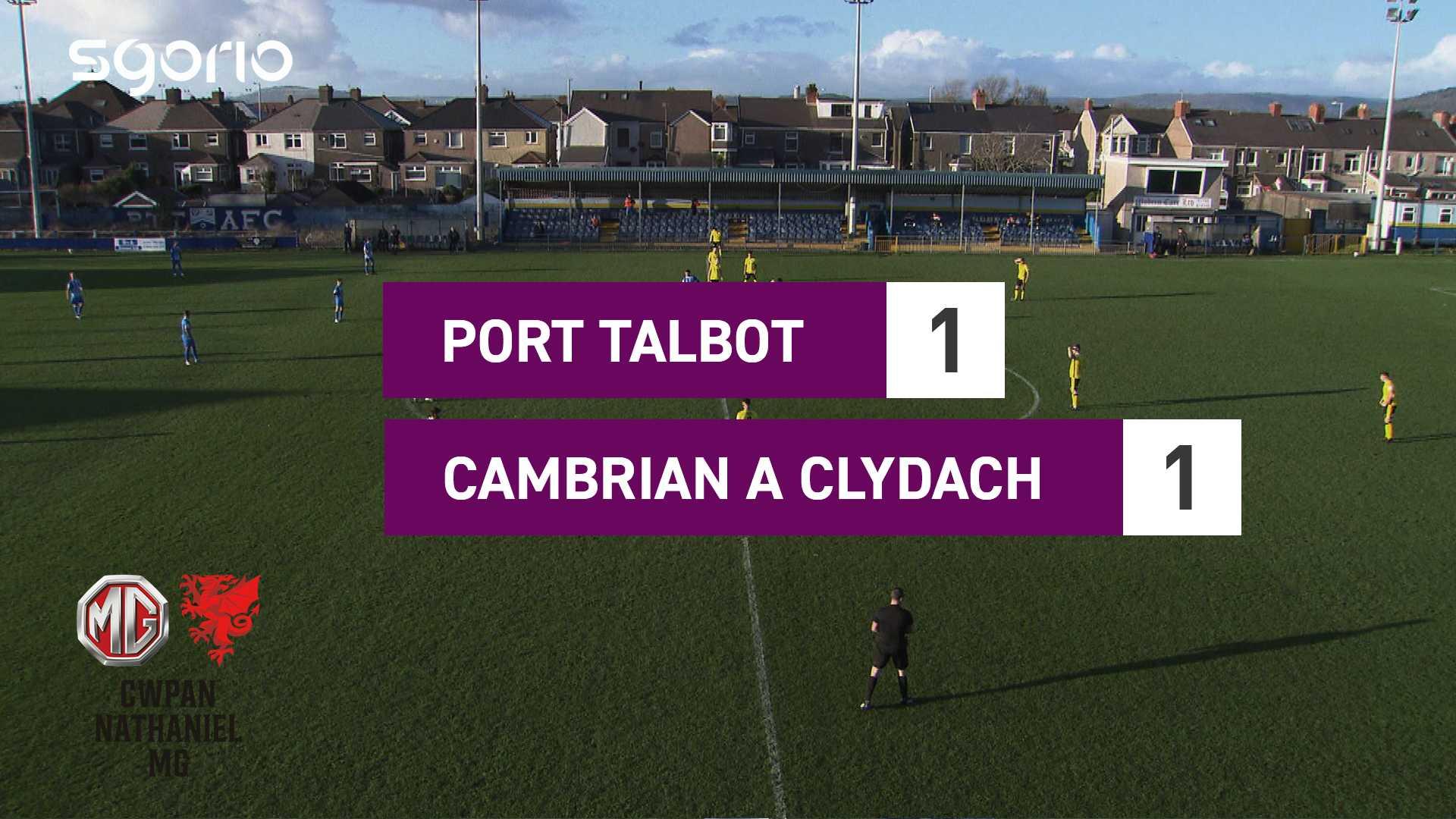 Port Talbot 1-1 Cambrian a Clydach