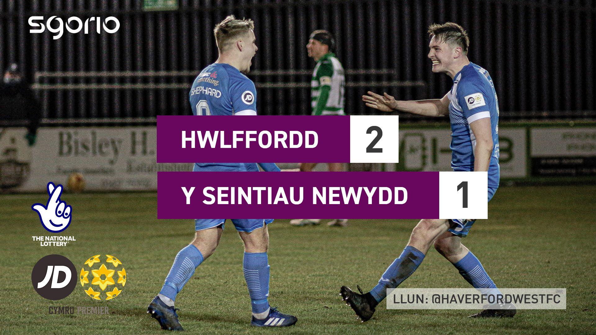 Hwlffordd 2-1 Y Seintiau Newydd