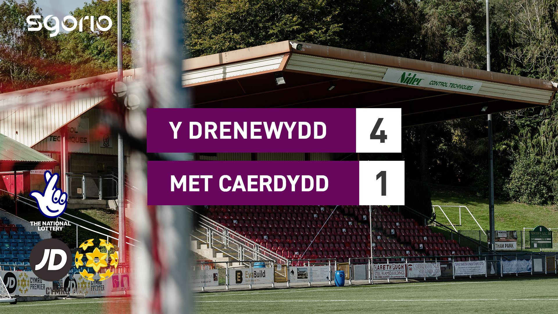 Y Drenewydd 4-1 Met Caerdydd