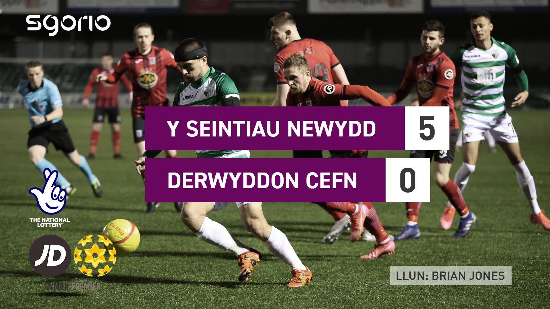 Y Seintiau Newydd 5-0 Derwyddon Cefn