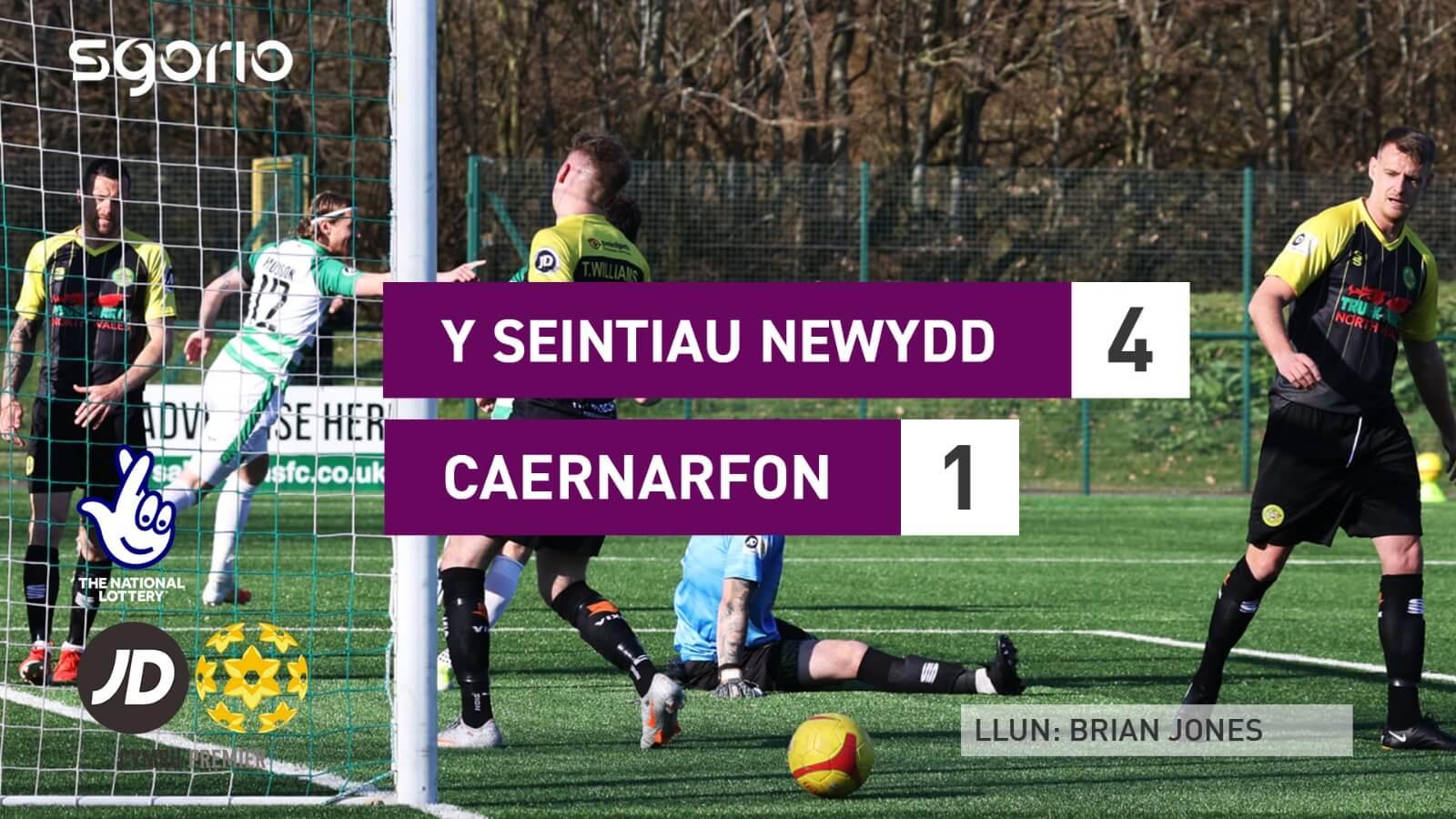 Y Seintiau Newydd 4-1 Caernarfon