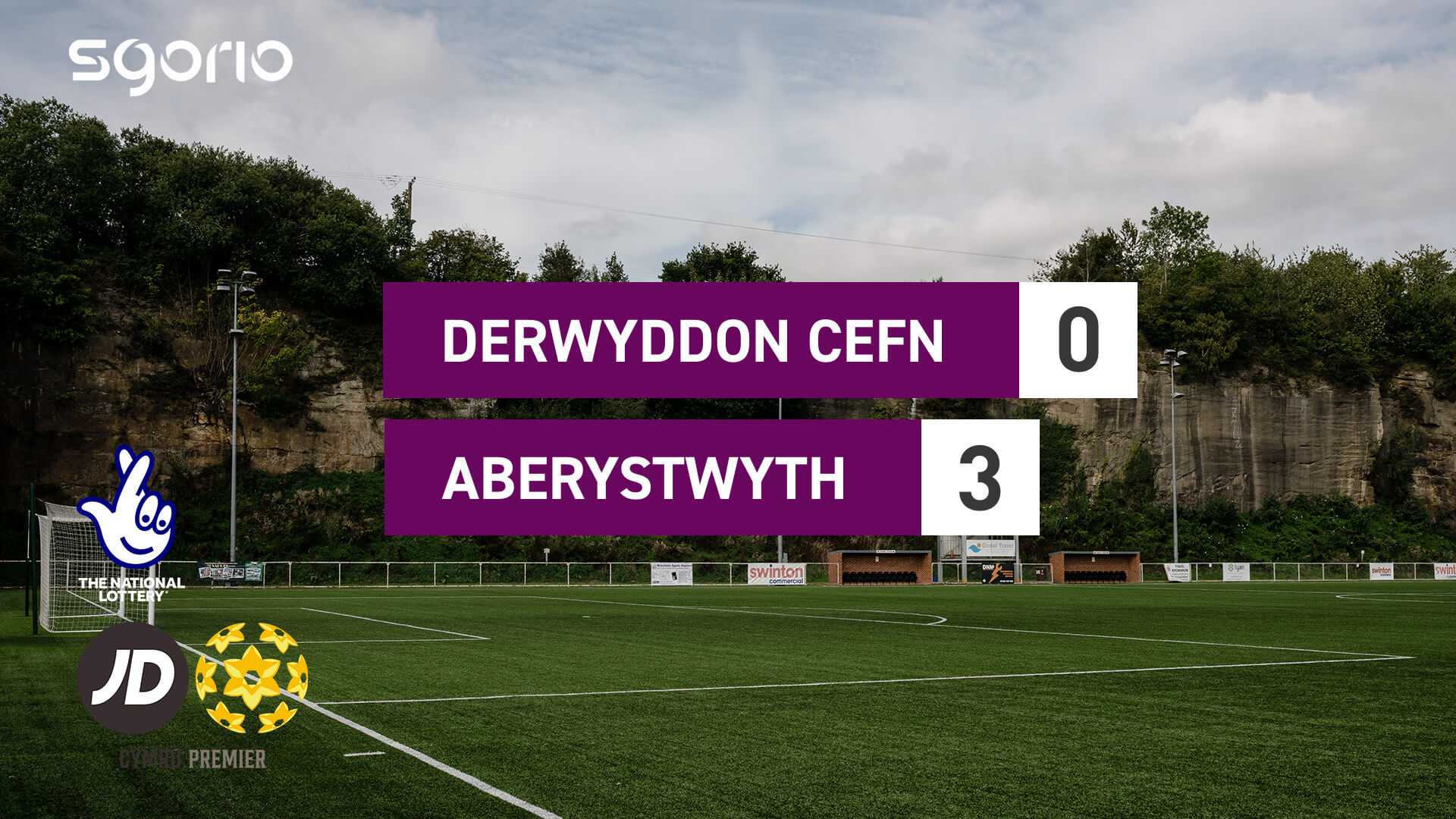 Derwyddon Cefn 0-3 Aberystwyth
