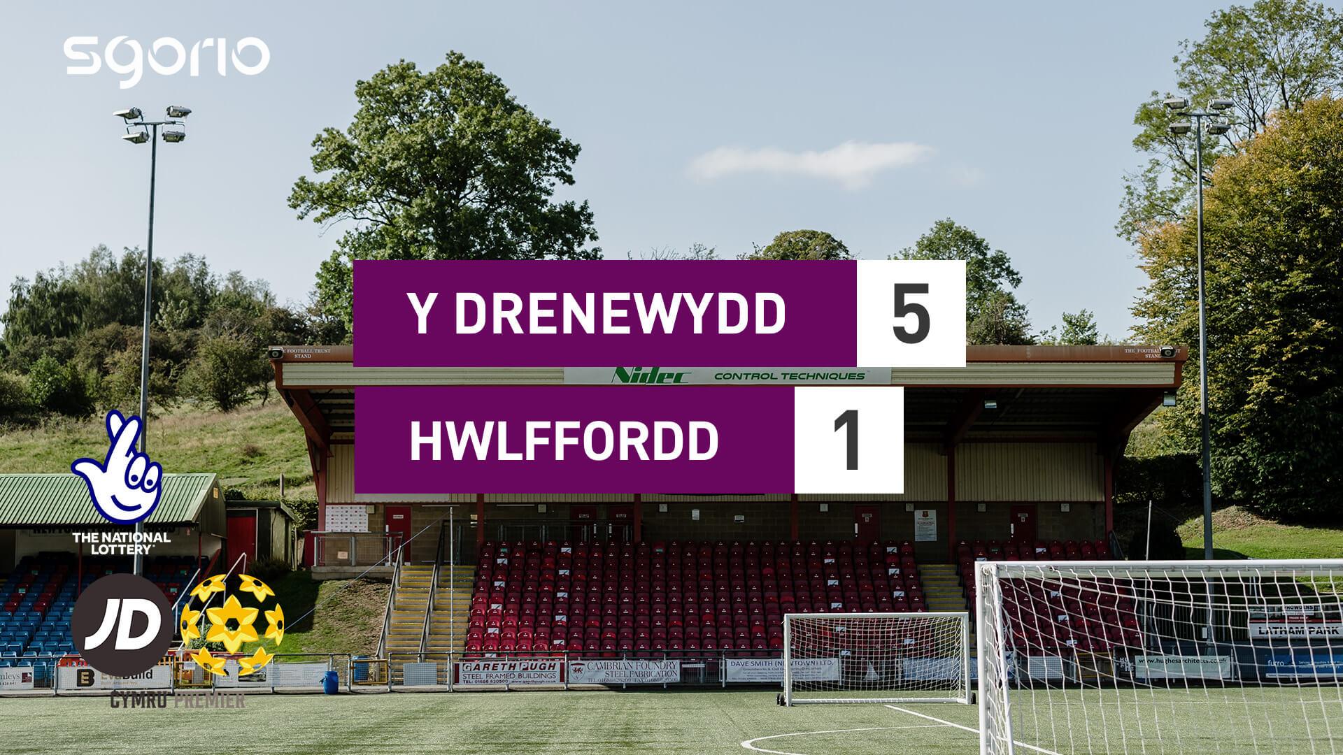 Y Drenewydd 5-1 Hwlffordd
