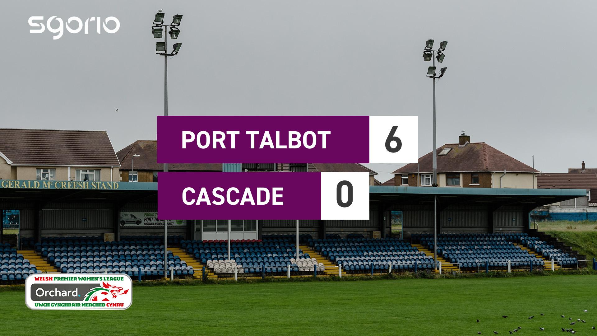 Merched Port Talbot 6-0 Cascade