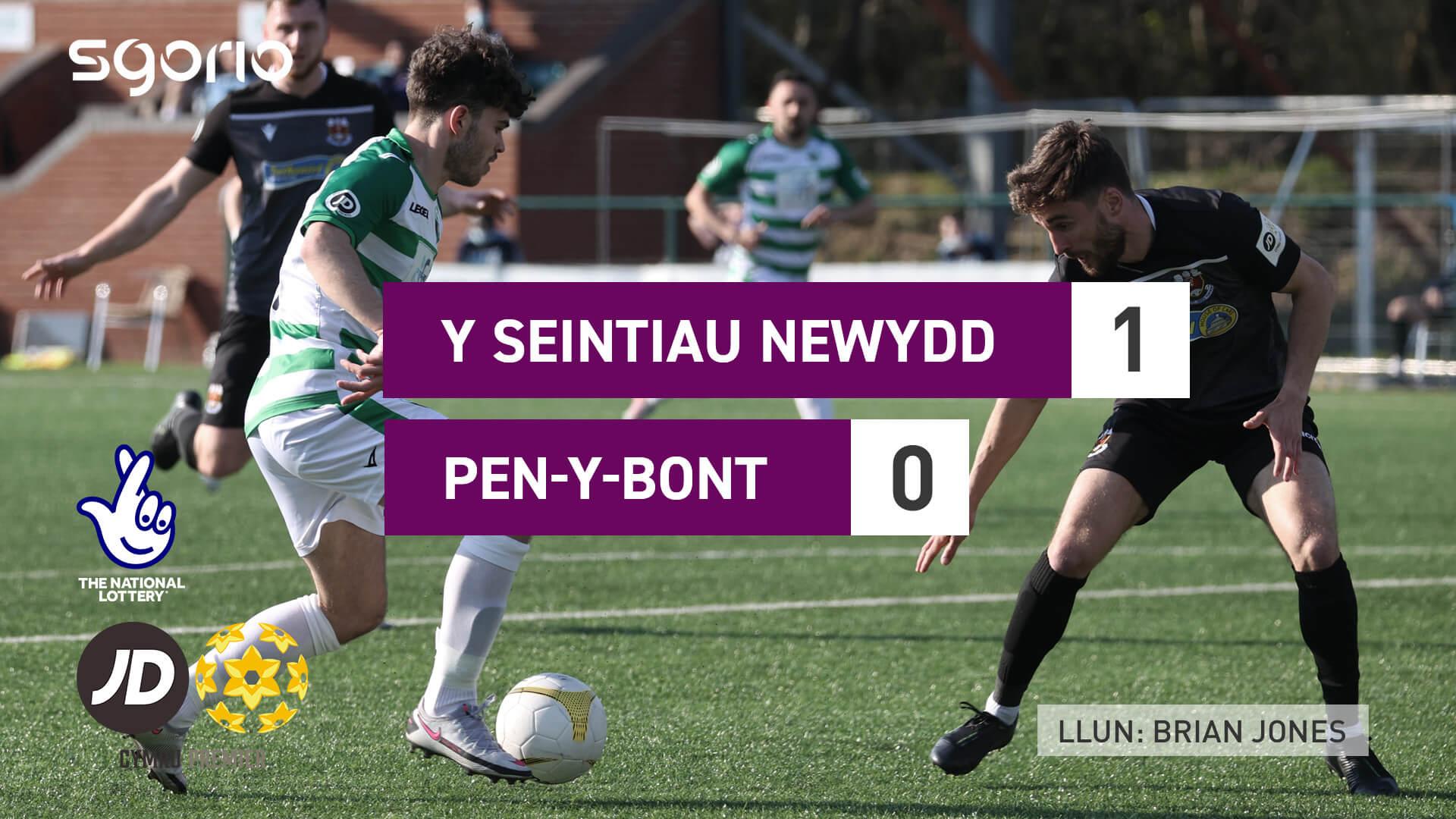 Y Seintiau Newydd 1-0 Pen-y-bont