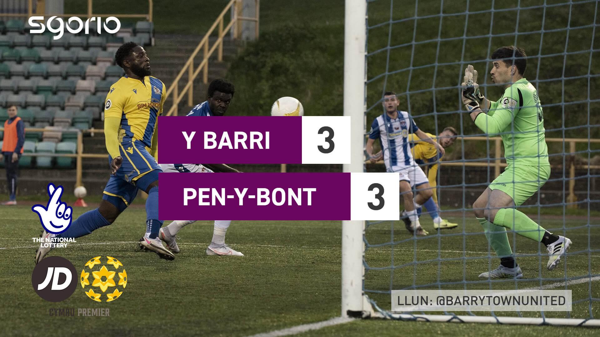 Y Barri 3-3 Pen-y-bont