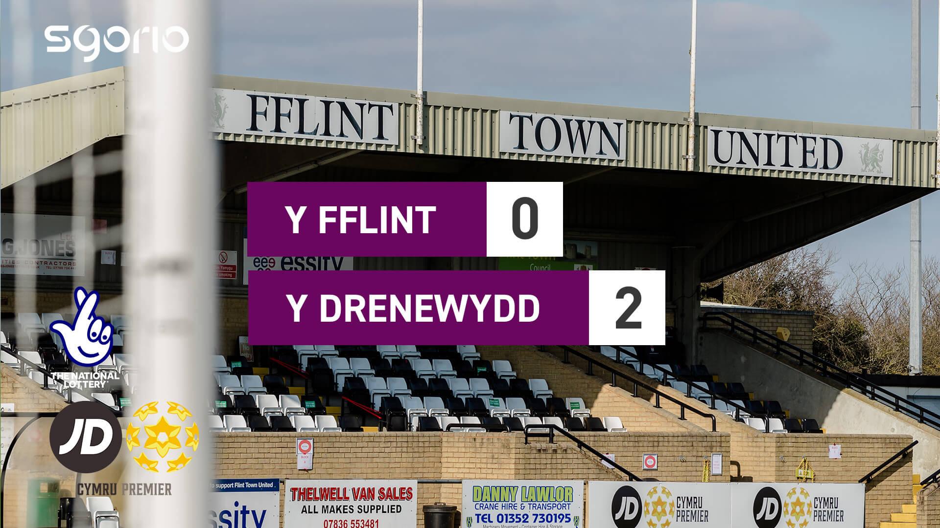 Y Fflint 0-2 Y Drenewydd