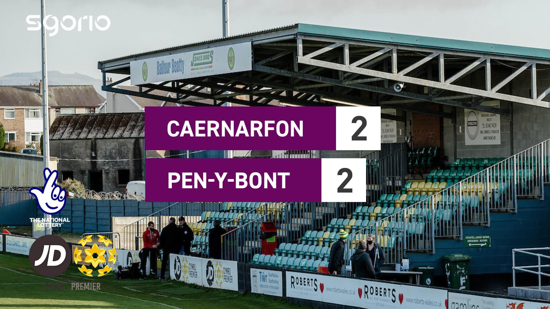 Caernarfon Town 2-2 Pen-y-bont