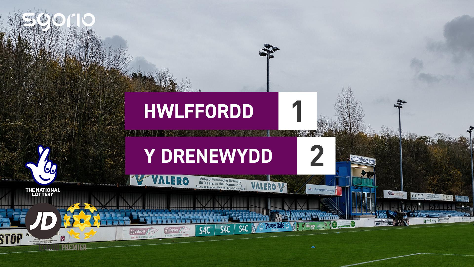 Hwlffordd 1-2 Y Drenewydd
