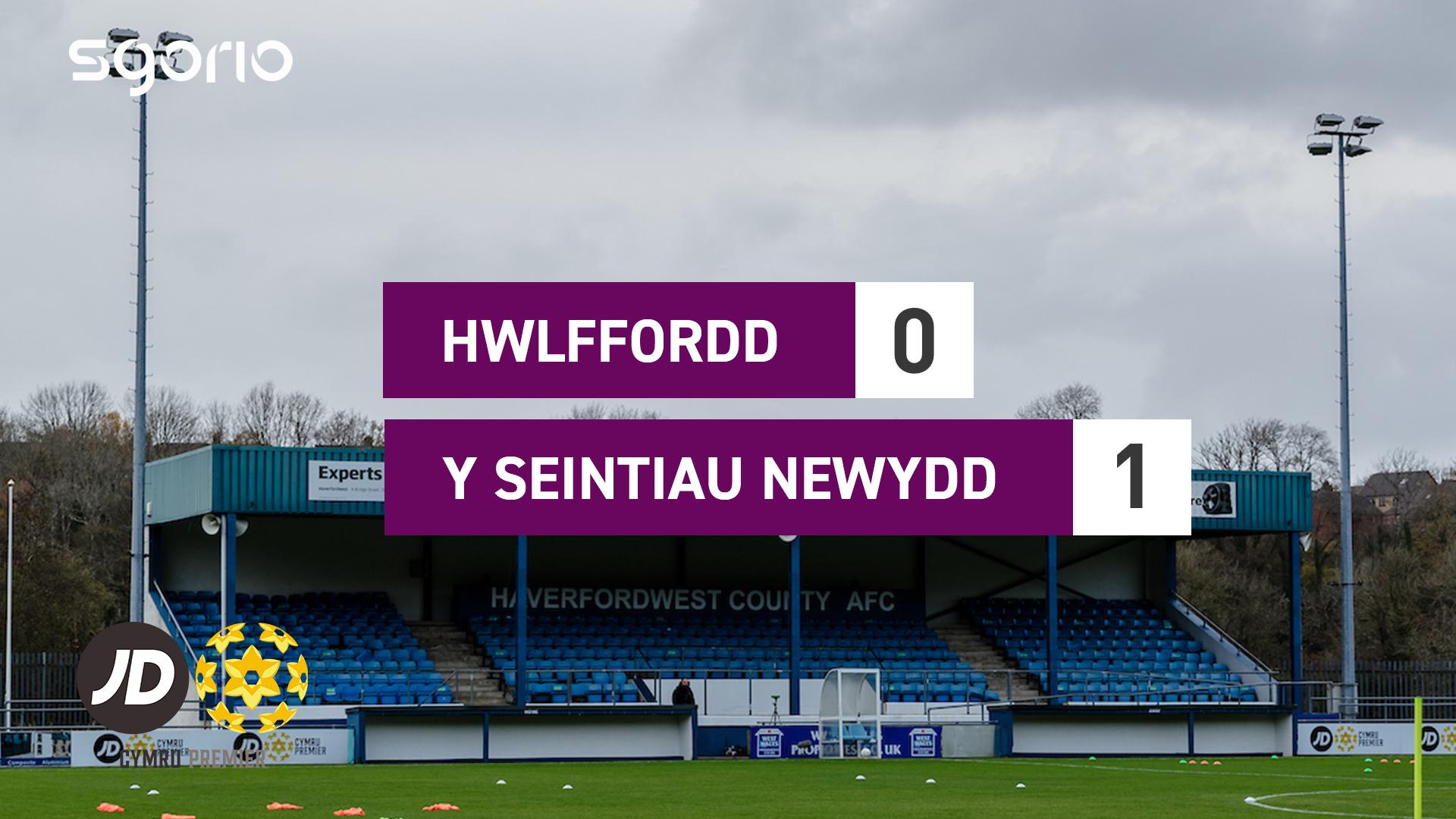 Hwlffordd 0-1 Y Seintiau Newydd