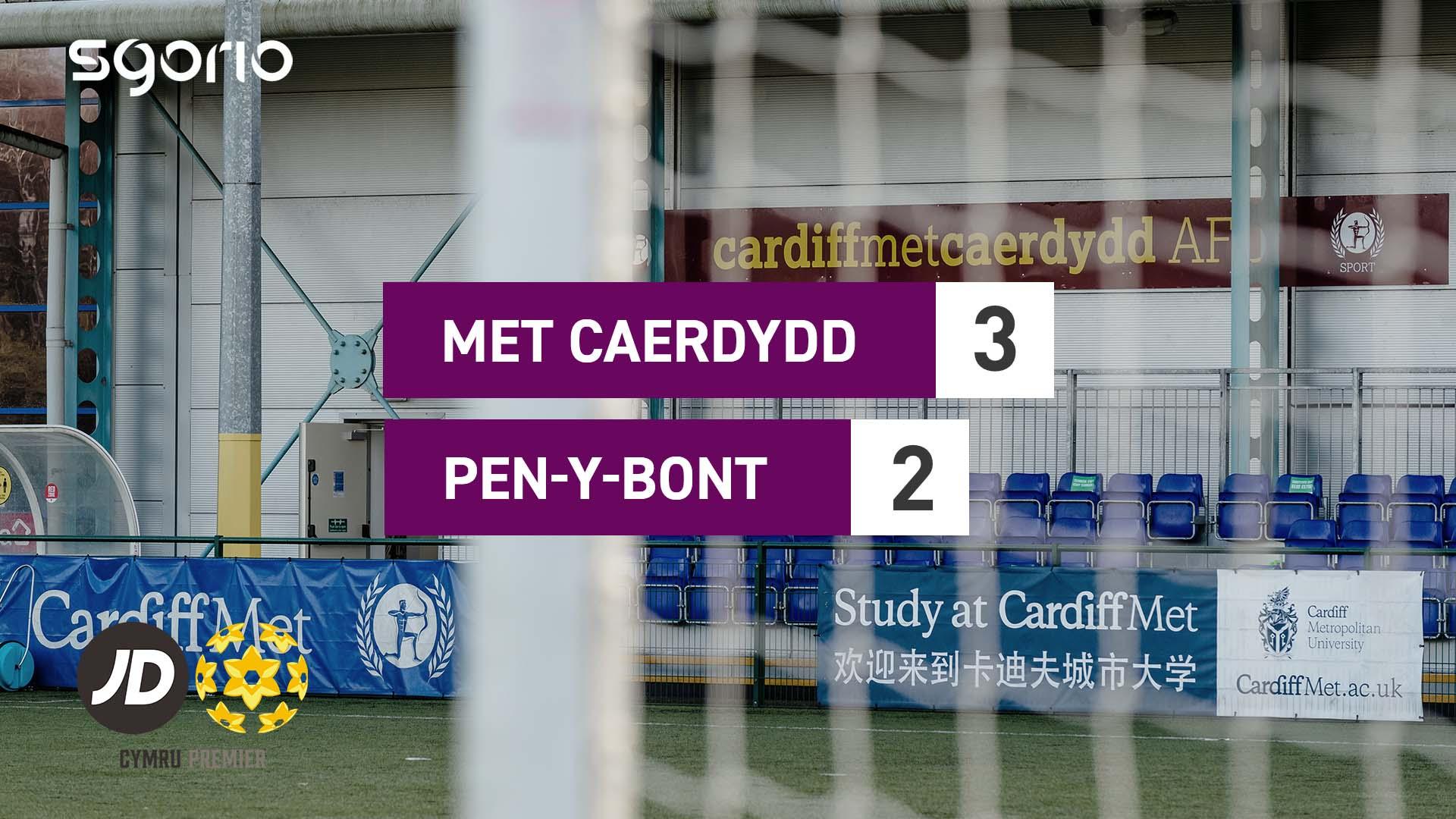 Met Caerdydd 3-2 Pen-y-bont