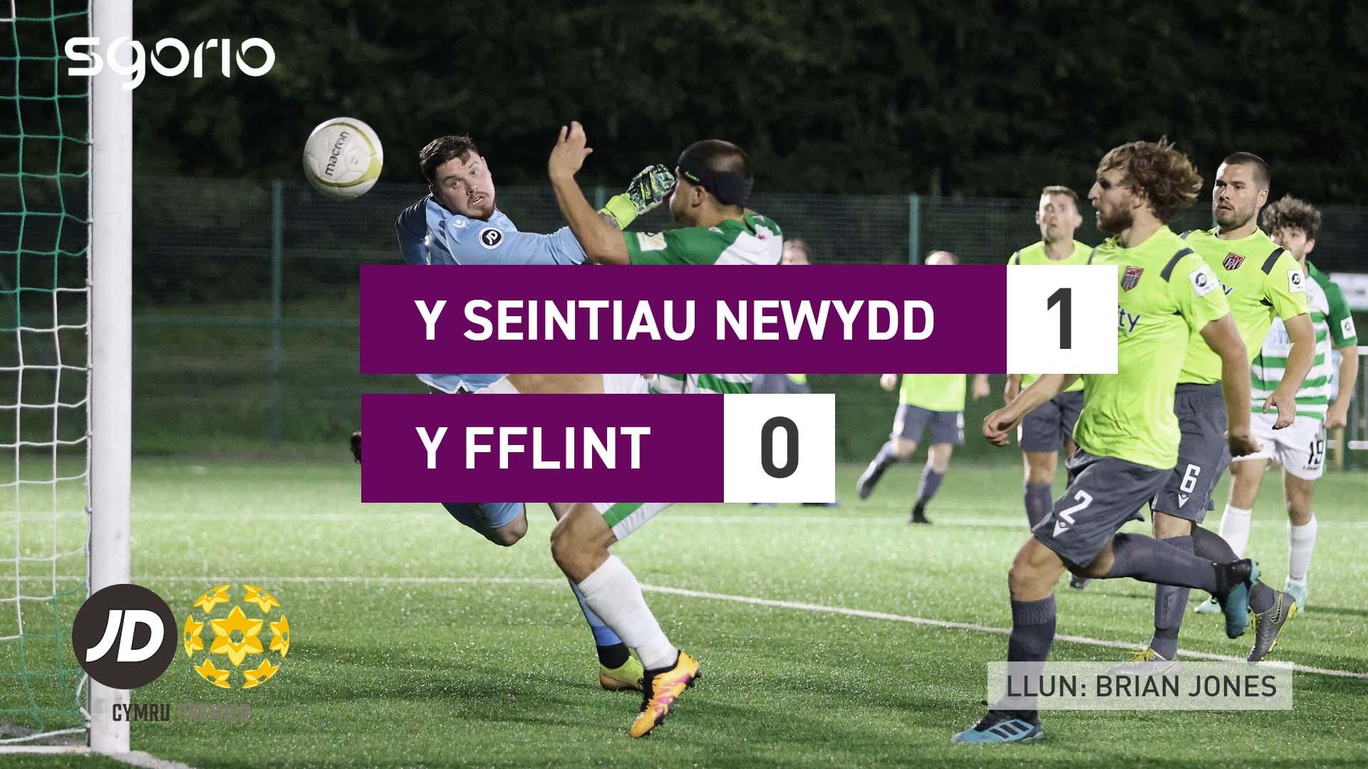 Y Seintiau Newydd 1-0 Y Fflint