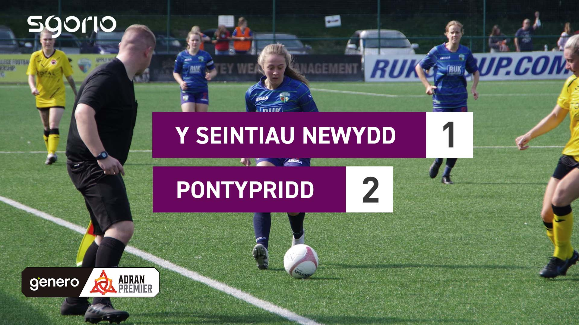 Y Seintiau Newydd 1-2 Pontypridd