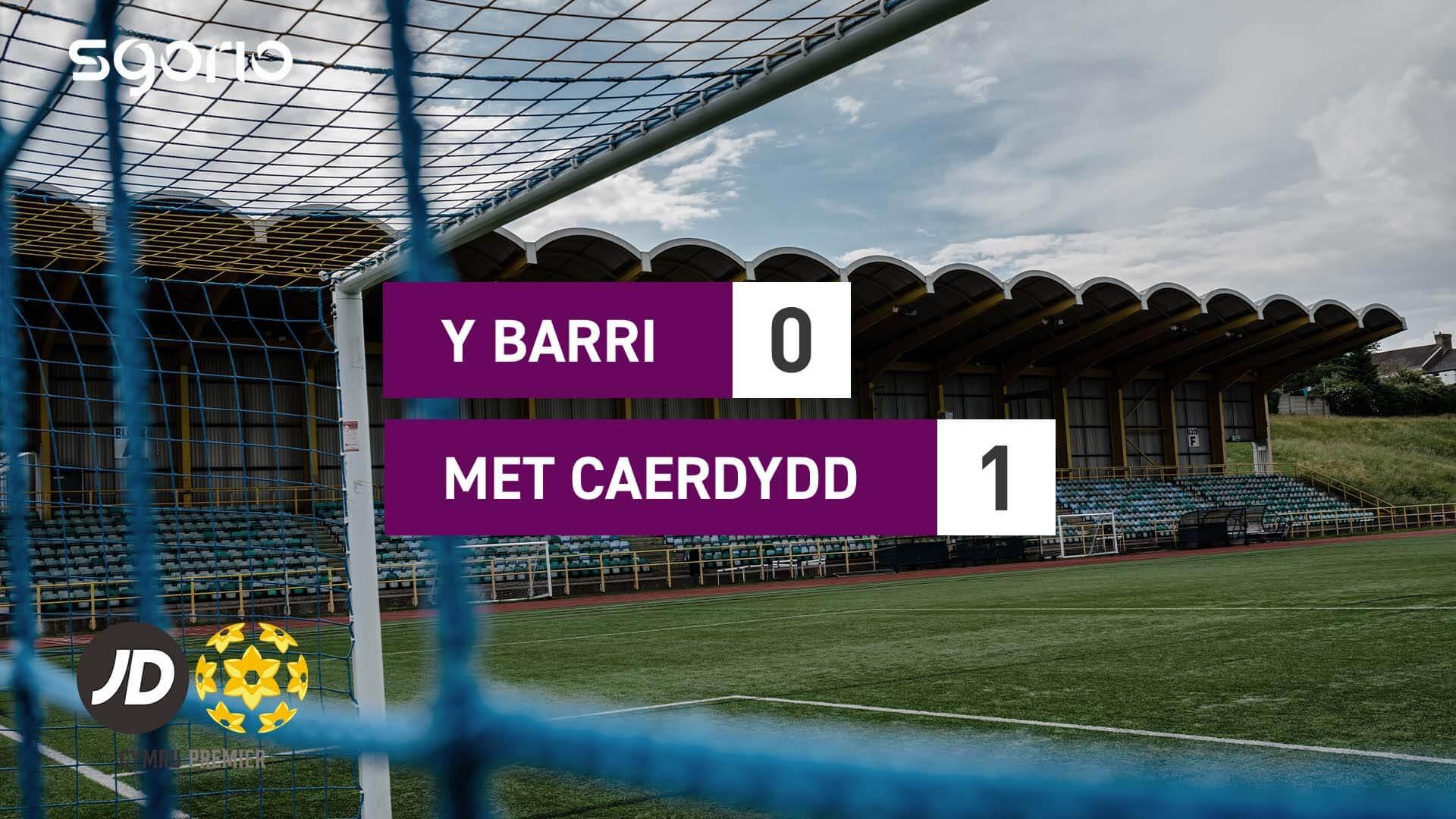 Y Barri 0-1 Met Caerdydd
