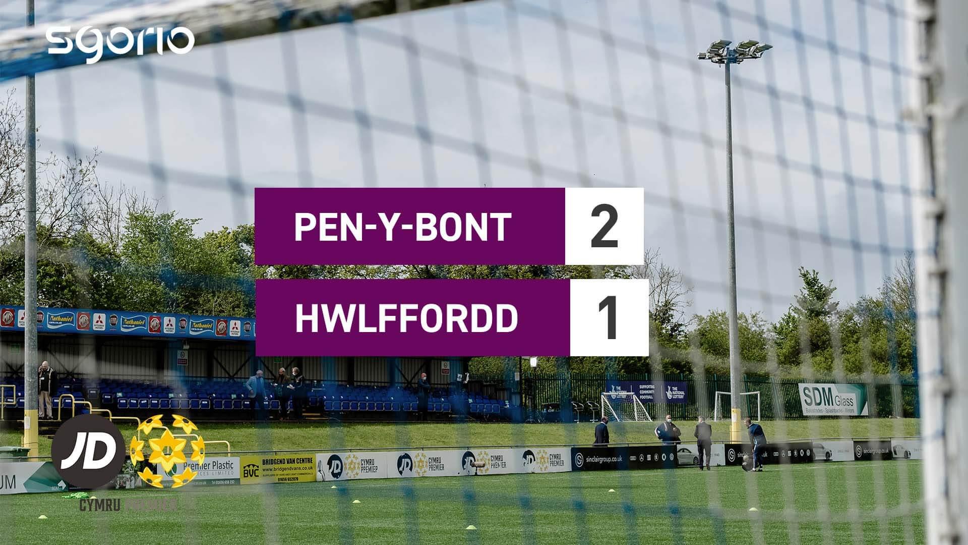 Pen-y-bont 2-1 Hwlffordd